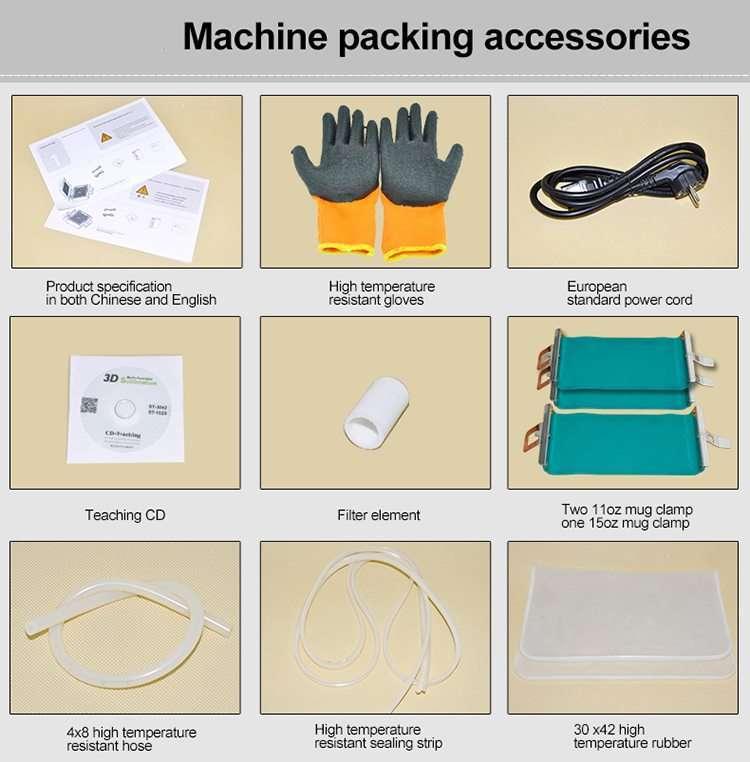 3D VACCUM MACHINE ACCESORRIES