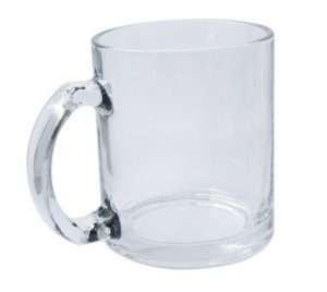 Sublimation 11oz clear glass mug