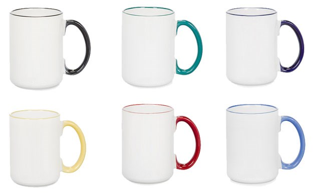 15oz Sublimation Color Rim Mug