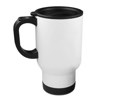 White Sublimation Stainless Steel Travel Mug