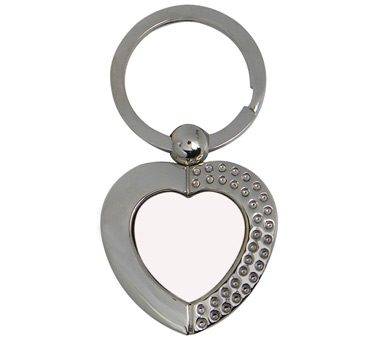 Sublimation Metal Key Ring-Heart Shape 1
