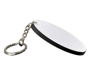 Hard Plastic Rectangle Key Ring 53*85mm