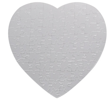 Paper Jigsaw Puzzle-Heart 19*19CM