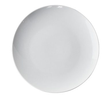 10 Inch White Ceramic Smoothly Plate