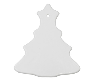 Ceramic Christmas Tree Ornament