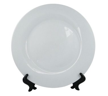 8 Inch White Ceramic Smoothly Plate