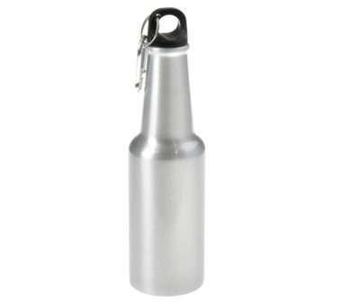 600ml Silver Aluminum Bottle