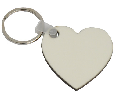 MDF Heart Shape Key Ring 5*5cm