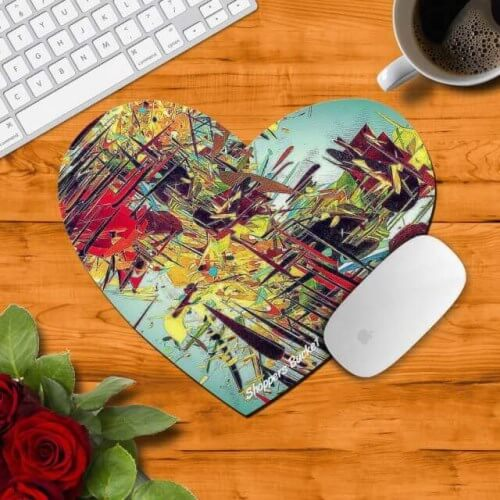 Sublimation Mouse Pad Heart 3mm
