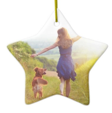 sublimation ceramic star ornament