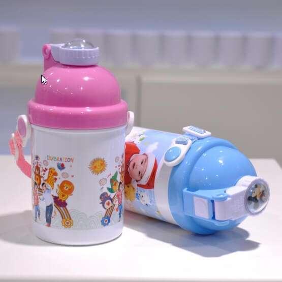 Sublimation Polymer Kid Water Bottle (Cartoon Lid)