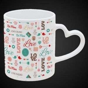 Sublimation 11oz Heart Handle White Mug