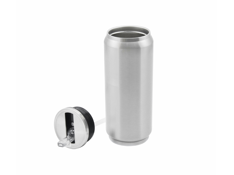 Sublimation Stainlesssteel silver Coke Can 500ML