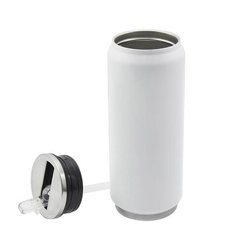 Sublimation Stainlesssteel white Coke Can 500ML