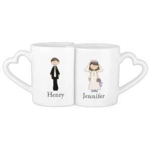 sublimation heart shape handle lover's mug