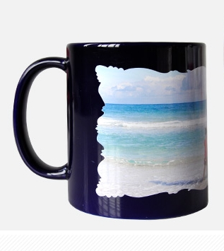 Sublimation Full color mug with white patch