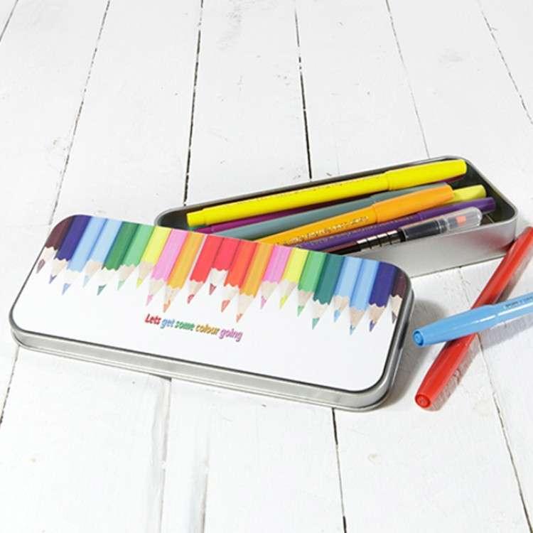 sublimation metal pencil tin