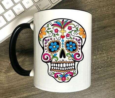 11oz Sublimation Ceramic Color Rim Mug