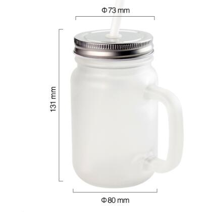 Sublimation Matte Mason Glass Jar with Straw