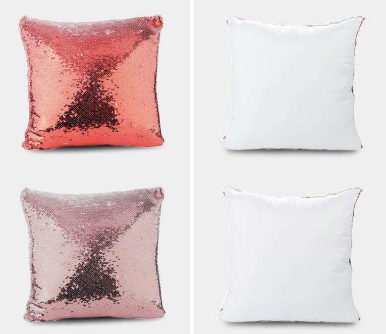 Sublimation Pillow Cover with Buttons,21*21CM