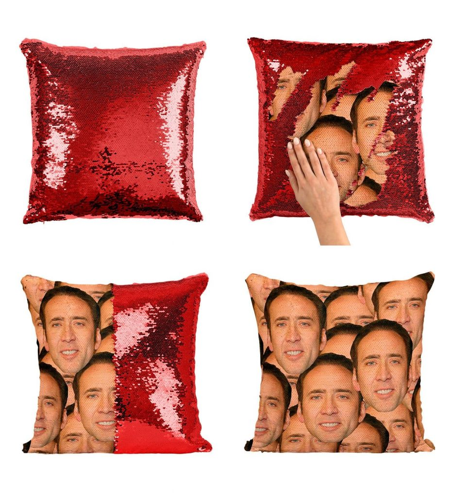 sublimation sequin cushion cover