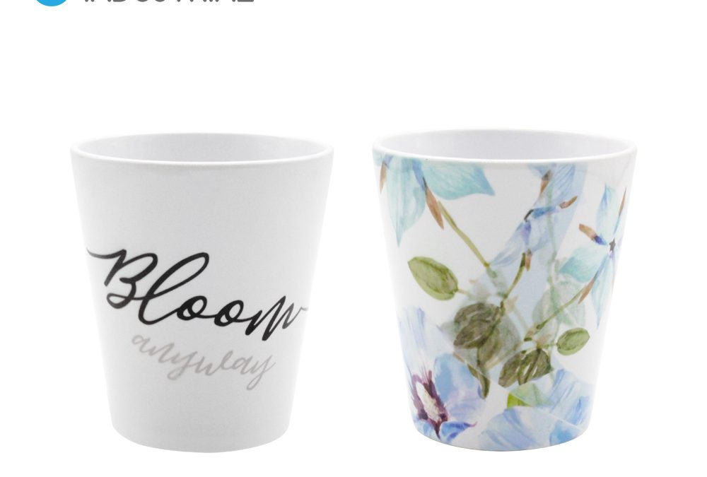 Sublimation Blank 12oz Ceramic Flower Pot