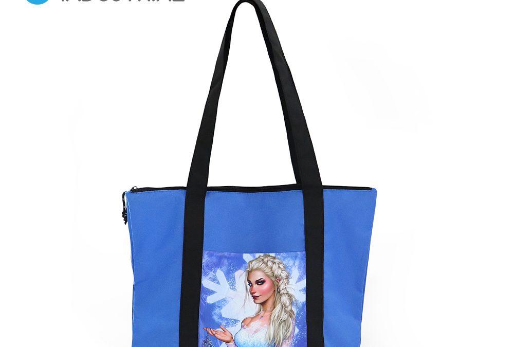 Sublimation Blue Tote Diaper Bags Mummy Bag
