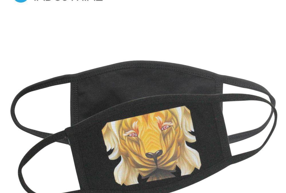 HTV Blanks All Black Fashion Face Cover/ Heat Transfer Vinyl used Black Cotton facemask/ Custom ALL Black Cotton Facemask
