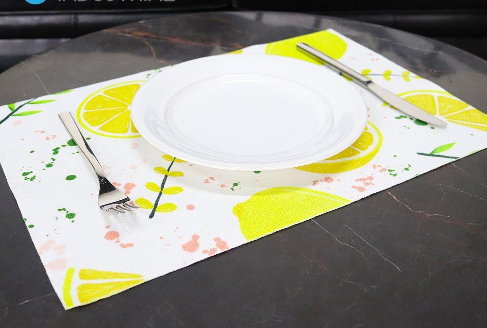 Sublimation Dual Layer Linen Rectangle Plate Mat Double Sides Printable Plate Mat