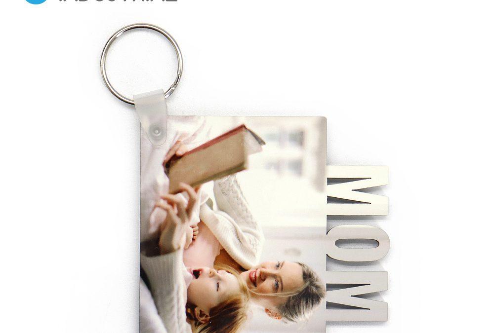 Double Sided Blank Sublimation MDF MOM Keychains Key holder