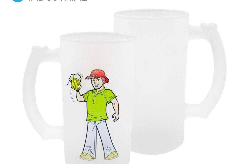 Sublimation 16oz Frosted Glass Beer Mug