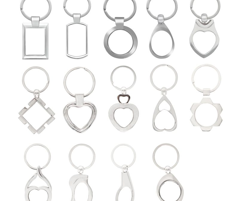Sublimation banks metal key chain blank metal key ring