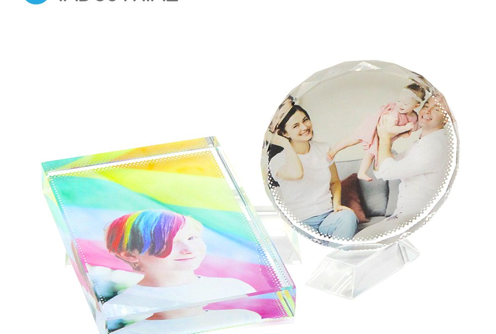 2021 New arrival!! Sublimation Crystal frame for printing Crystal Round/ Rectangle photo frame