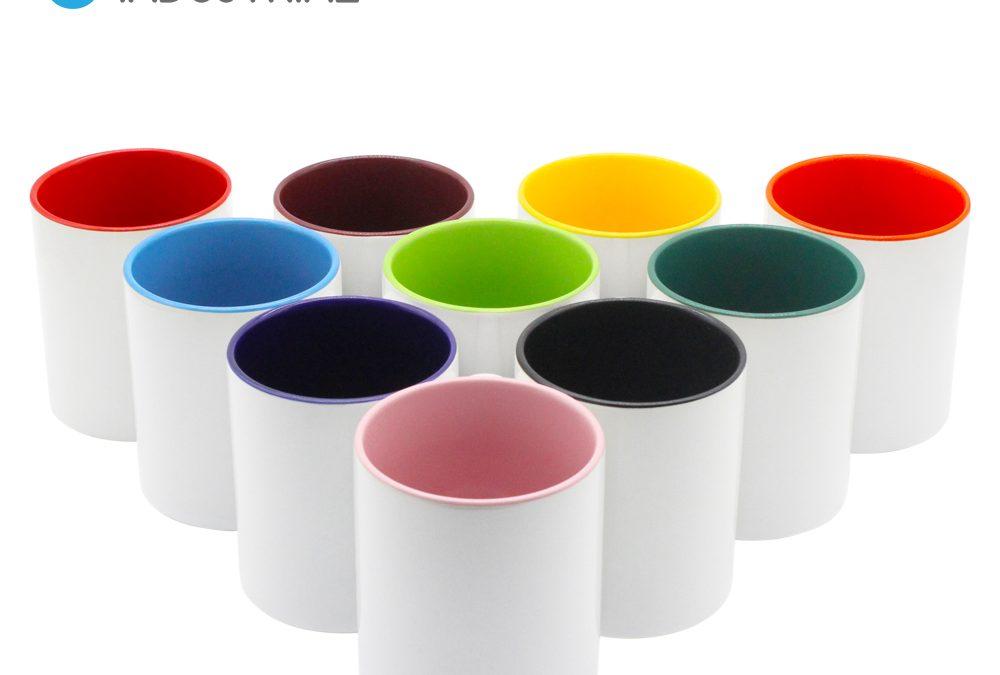 Sublimation Coffee Mug Coffee Cup Custom Logo Reusable 11oz.Ceramic Inner Color Mug