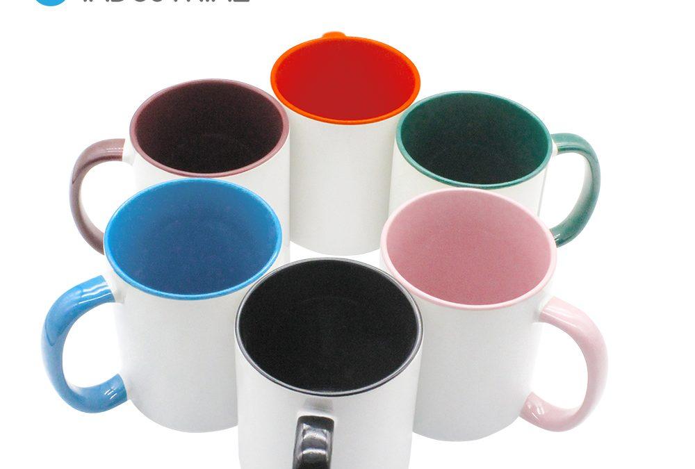 11oz Pink Ceramic Coating Mug