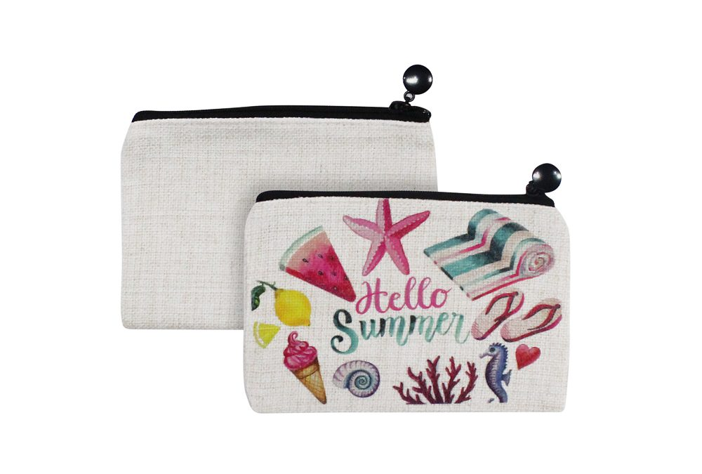 Sublimation Linen Purse Bag Coin Purse Pouch Bag Two Sided