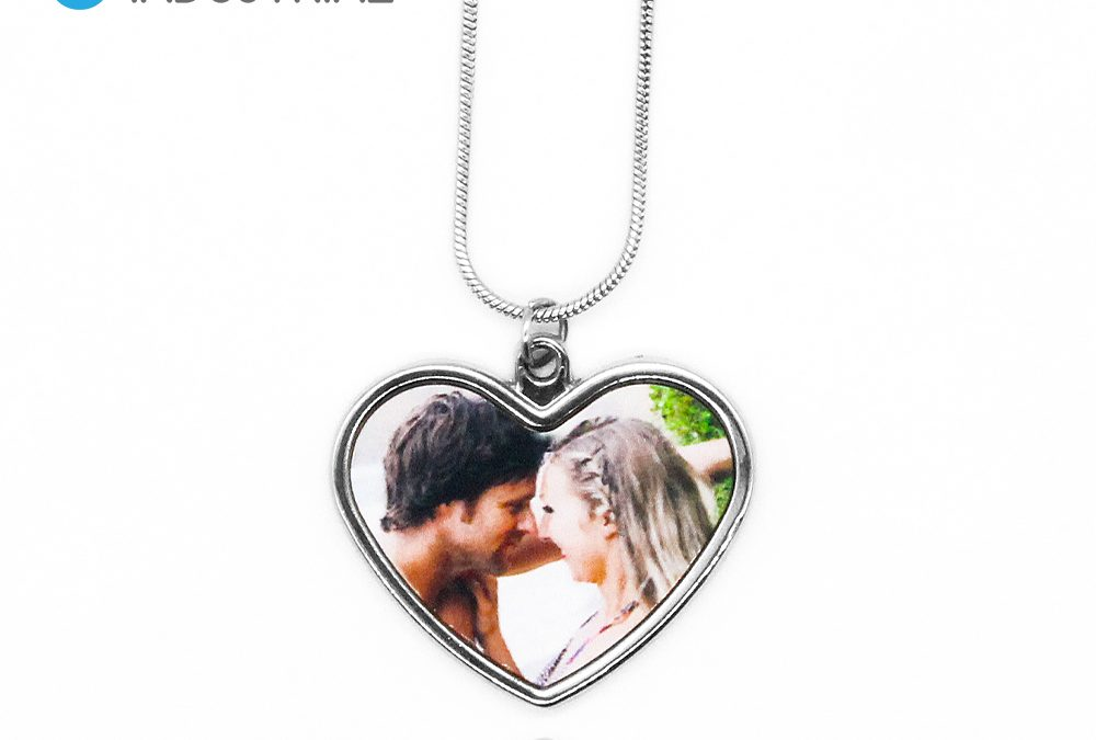 Sublimation Blank Metal Heart Shape Necklace