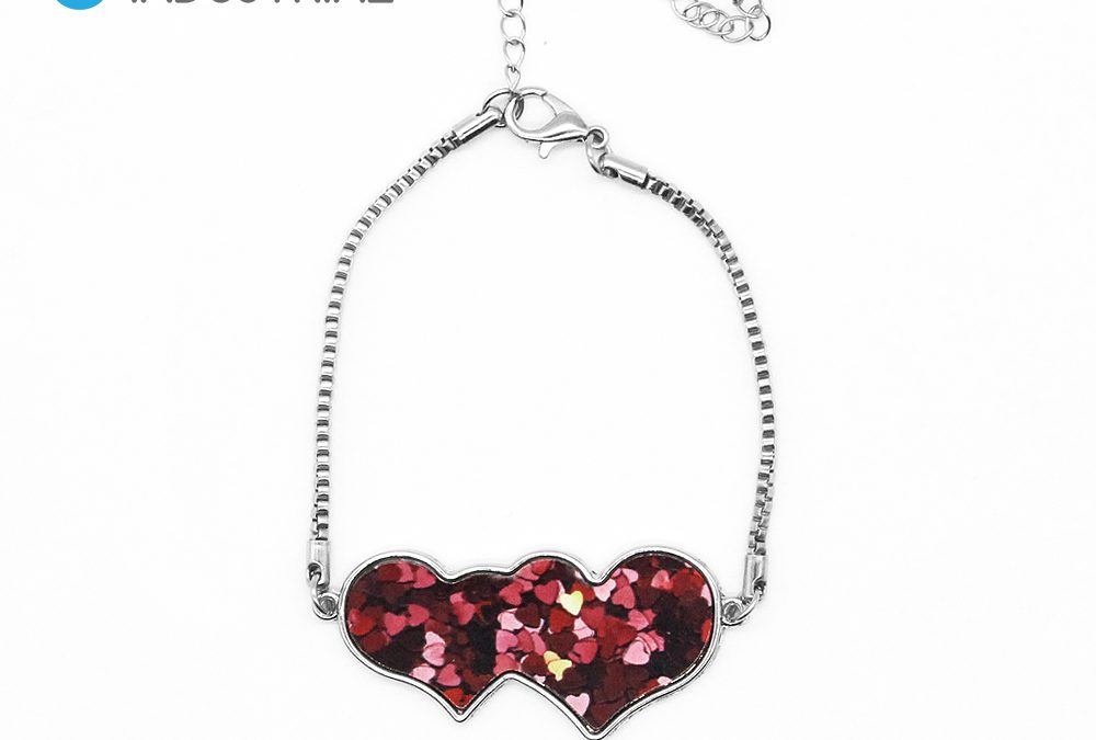 Sublimation Single Side Printable Heart to Heart Bracelet