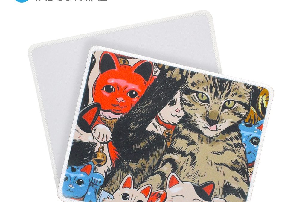 Sublimation Blank Mouse Mat with Stitched Edges Sublimation mouse pad