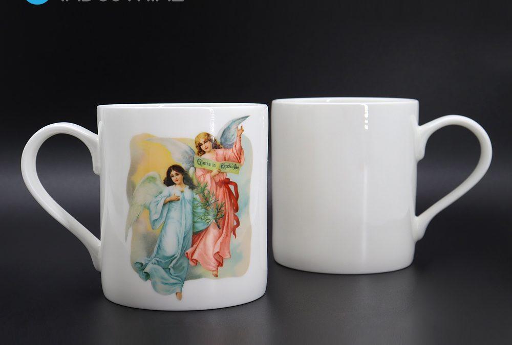 Sublimation 8oz white bone china mugs blank sublimation mugs