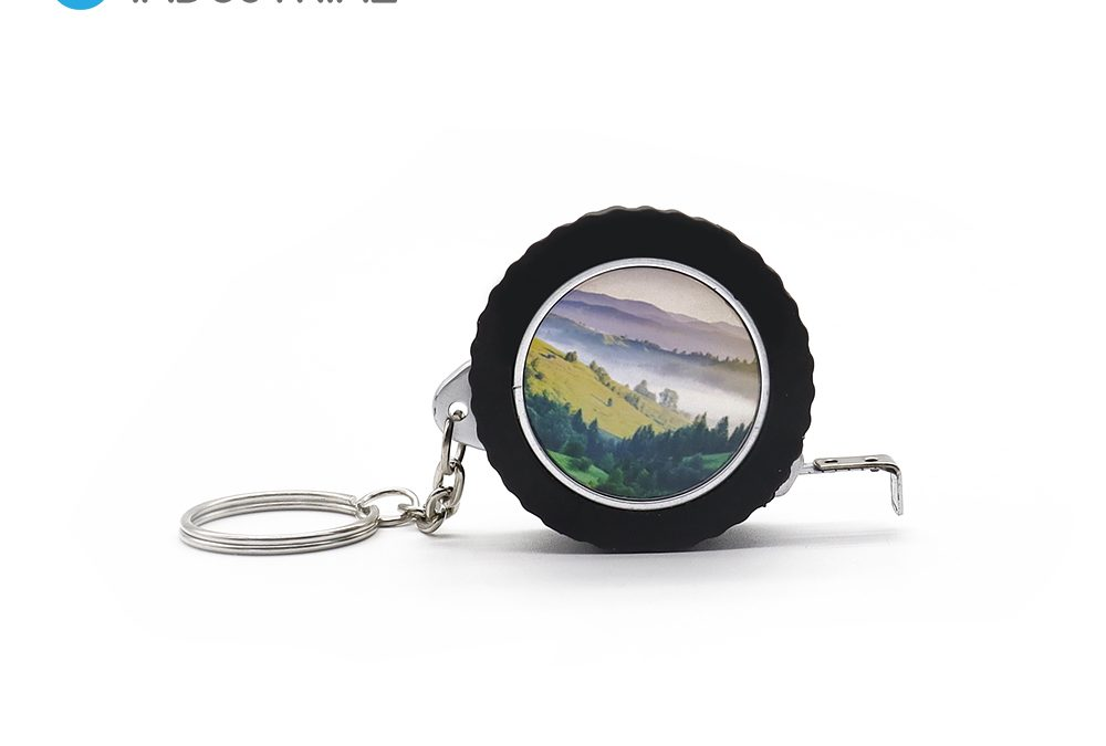 Sublimation Blanks Tape Measure Tire Shape Key Ring Key Chain with Measuring Tape