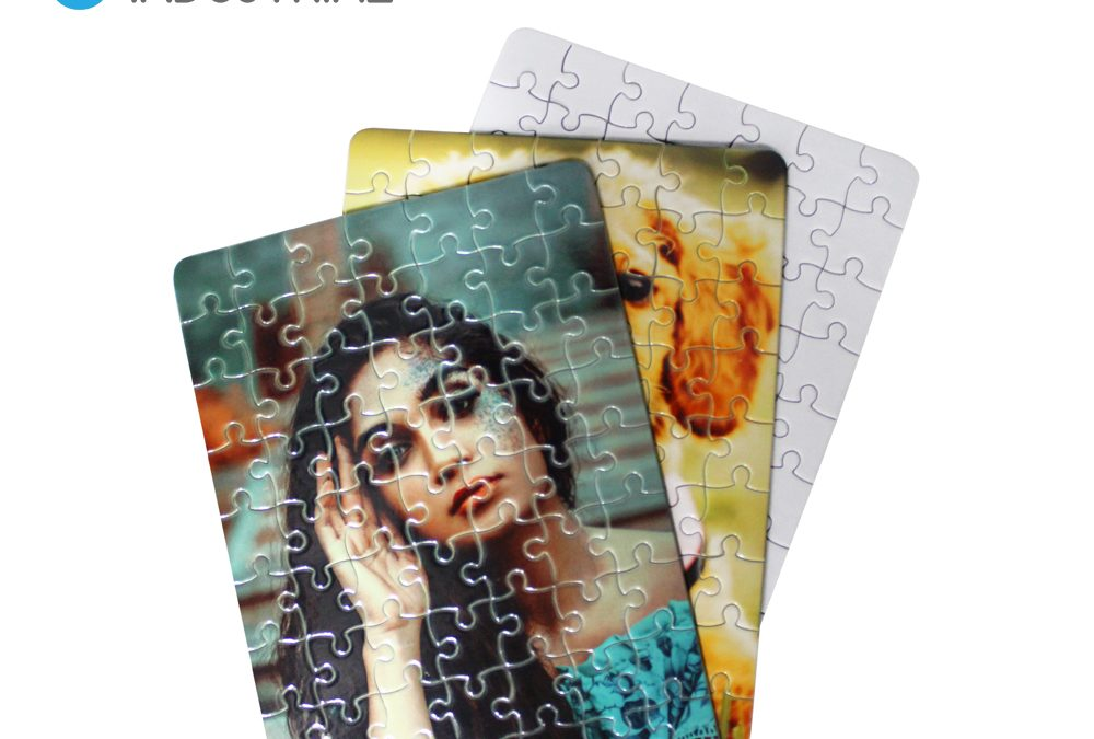 Sublimation personalized A5 63pcs jigsaw puzzle for heat transfer