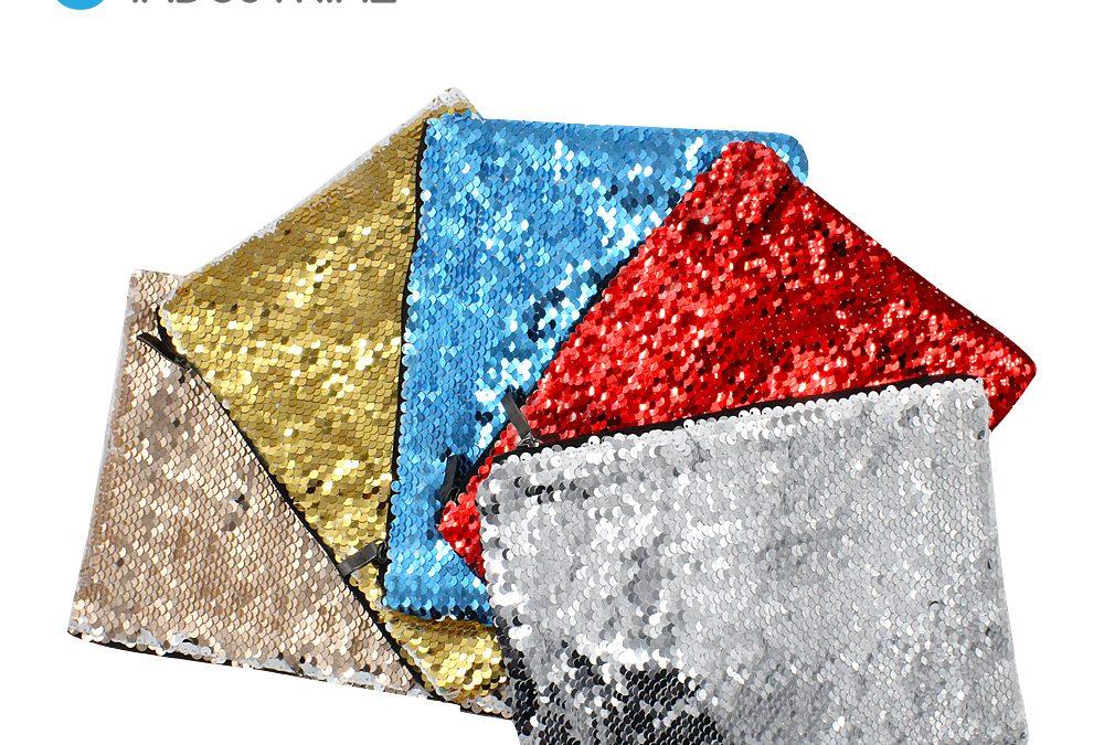 Sublimation Flip Sequin Cosmetic Bag Sublimation Makeup Bag