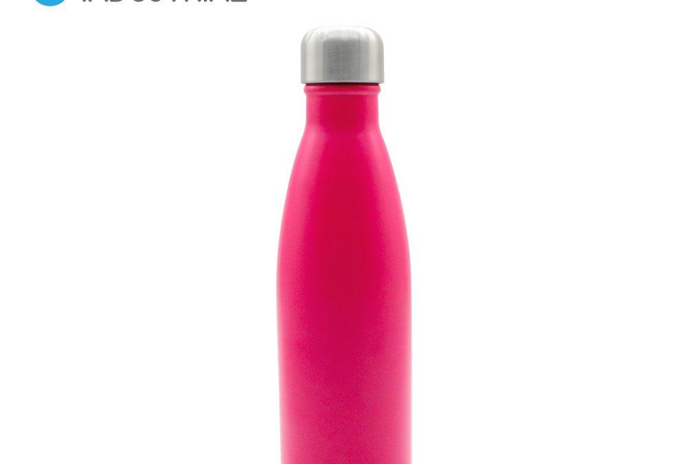 500ML Rose Red Matte Stainless Steel Coke Bottle for Laser engraving