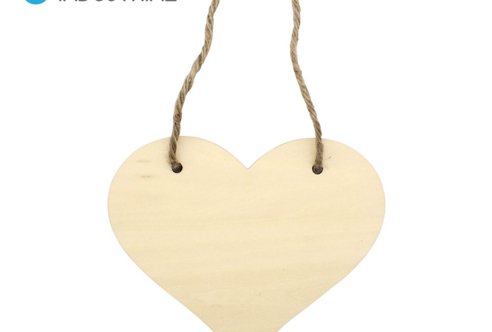 Sublimation Blank Heart Shape Door Hanger with String Double Sided for Valentine's Day Gifts