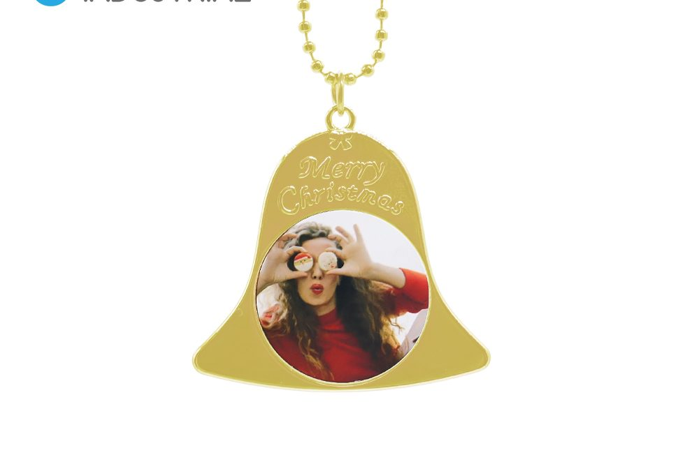Sublimation Blank Metal Heart Shape Angel Wing Necklace Ornament