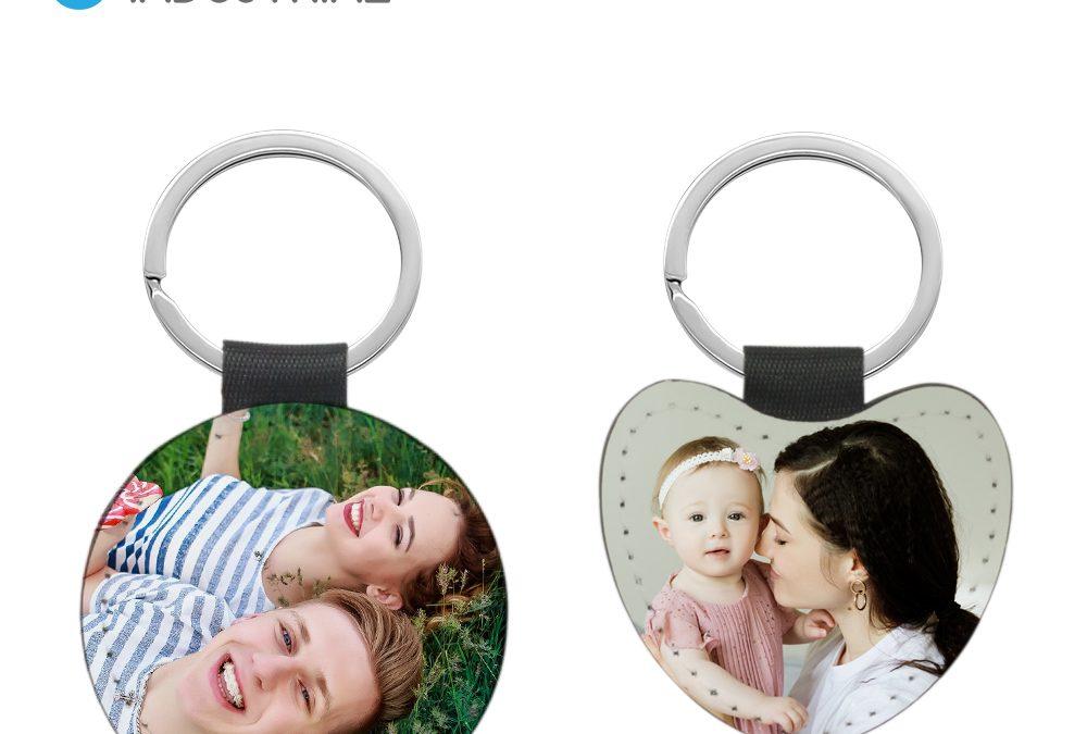Sublimation Customized Round Shape Double Side Blanks Leather Keychain/ Sublimation Blank PU Keychain with black edge