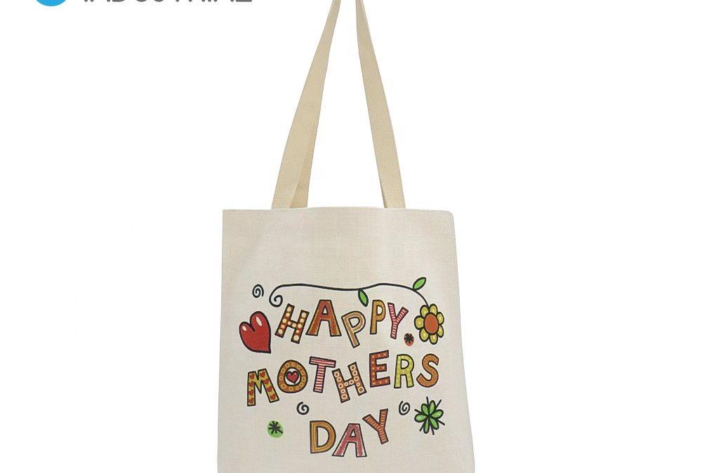 Sublimation 38*48cm shoulder bag shopping linen tote bag