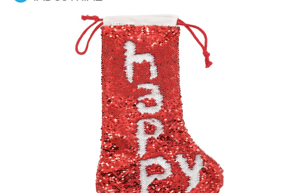 Sublimation Sequin Xmas Stockings Personalized Christmas Hanging Stocking