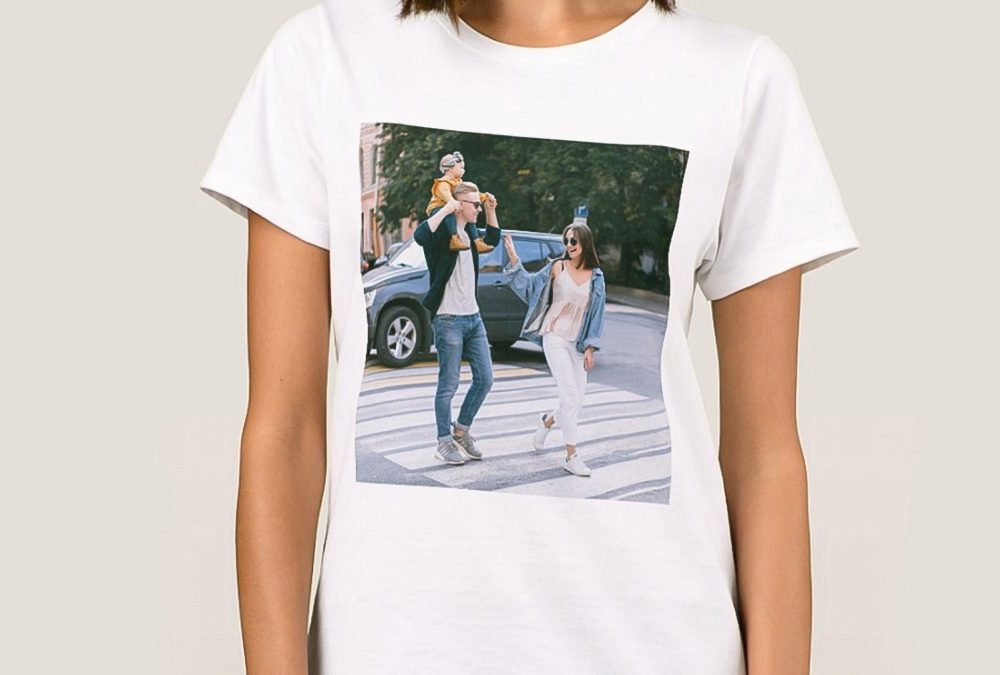 Ladies' Fit Sublimation T-Shirt 100% Polyester White T-Shirt for Heat Press Valentine's Gifts